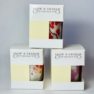 Snow & Graham Candle Lot (3 full-size candles)